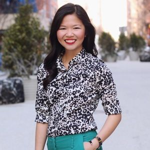 J. Crew snow leopard button up